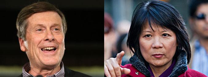 John Tory and Olivia Chow.